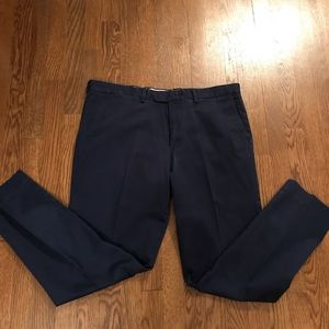 Perfect Navy Slacks J. Crew 36x32 Slim